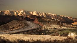 Road to the white hills desert sun nature wallpaper 828