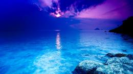 Download high quality 1920 x 1080 Crystal Blue Ocean Wallpaper 1829