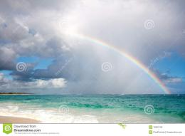 Rainbow Over The Ocean Stock PhotographyImage: 12391732 1349