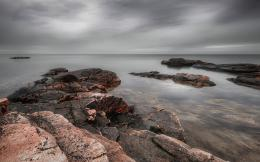 Download Pastel rocky shore wallpaper in Nature wallpapers with all 661