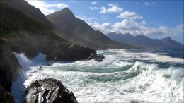 ocean waves rolling into rocky shore and cliffsHD 1080PYouTube 1035