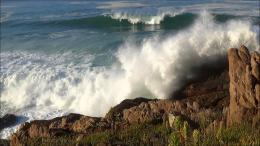60min ocean waves crashing into rocky shoresounds of the ocean in 1307