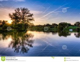 Sunset On The Lake Stock PhotoImage: 32544950 1460