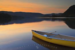 Beautiful Lake Sunset Lake Monroe Quebec | Photo, Information 461