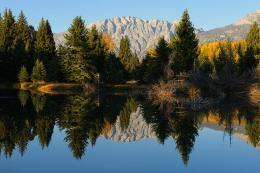 Perfect autumn reflection lake mountains wallpaper 324