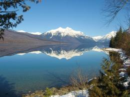 Perfect Reflection on Lake McDonald : Photos, Diagrams & Topos 630