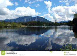 lake at Mount Si in North Bend, Washington with a perfect reflection 408
