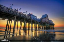 Old Orchard Beach Pier Maine Morning Sunrise | HDR Photography by 1000
