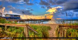 Lake Worth Fishing Pier Sloppy Morning Sunrise | HDR Photography by 488
