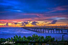 Deerfield Beach Fishing Pier During Cool Sunrise | HDR Photography by 505