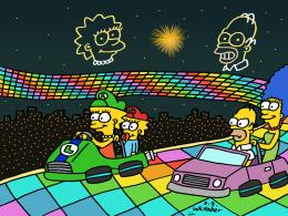 Simpsons Racing at Rainbow Road by DJgames on DeviantArt 849