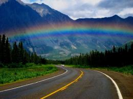 Rainbow on the road wallpaperNature wallpapersFree wallpapers 1209