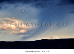Rain Cloud Over Trout Creek Mountains Oregon Stock Photo, Picture And 994
