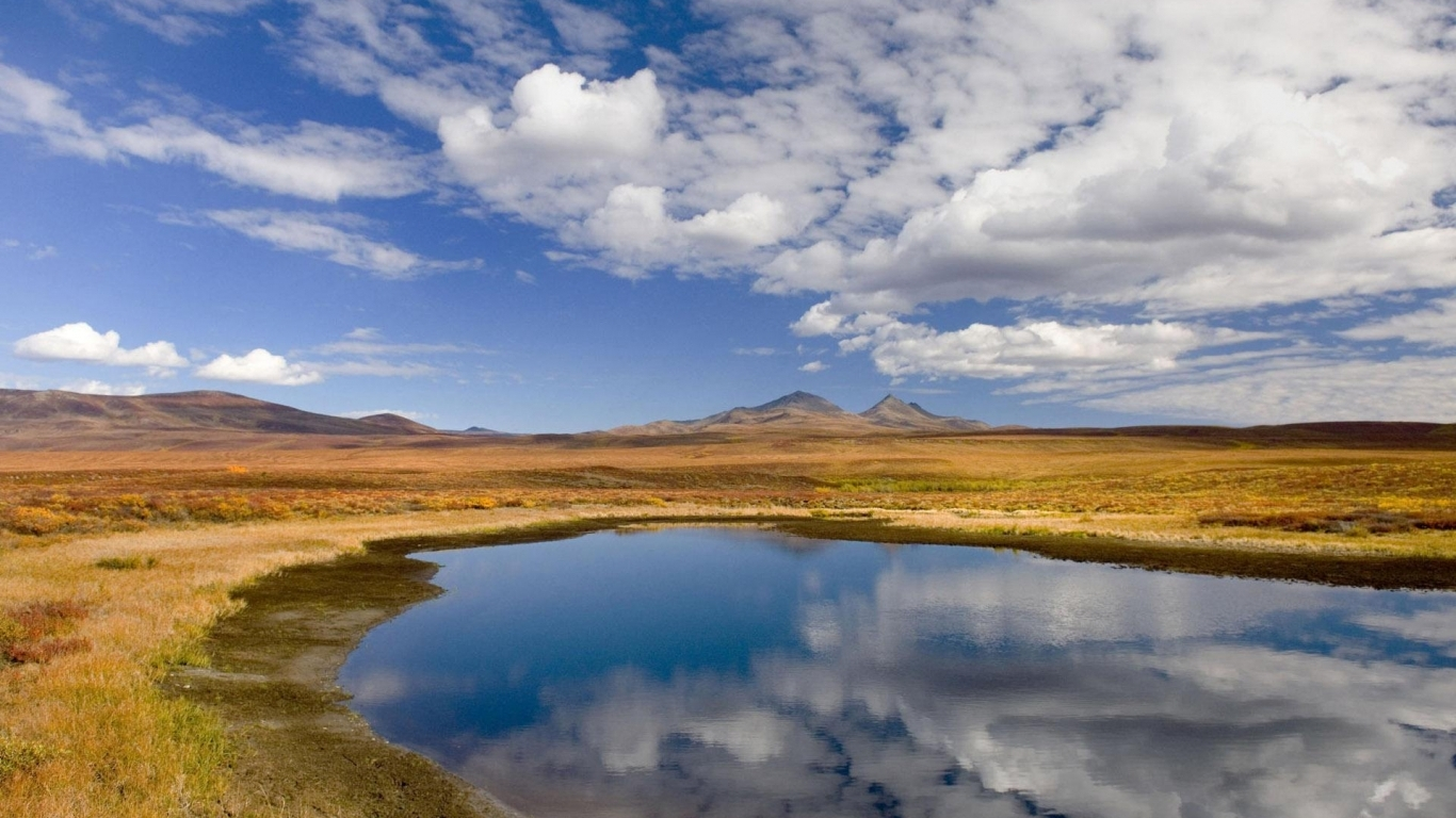 Download Reflections of clouds on pond wallpaper in Nature wallpapers 146