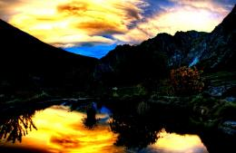 Splendid Sunset Reflection Storm Clouds Pond hd wallpaper #840168 1313