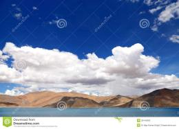 Beautiful Mountain Range Along Pangong Lake, HDR Stock PhotosImage 1439