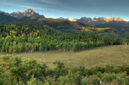 Sunrise off County Road 5 in the San Juan Mountains of Southern 501