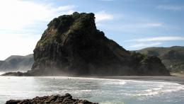 Lion Rock at Piha Beachthe lion shape becomes more visible late in 770
