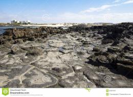 Rock formations on El cotillo beach in FuerteventuraSpain 887