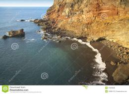Rock Beach At Sinset In La PalmaSpain Stock PhotoImage: 47848398 357