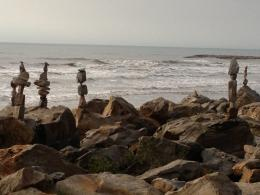 Rock Stacking in Galveston, Texas 1248