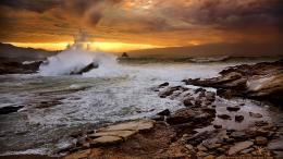 Breaking Waves On Rocky SeashoreHD Wallpaper, get it now! 1351