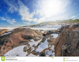 Rocky Seashore At Winter Royalty Free Stock ImageImage: 30310716 721