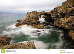 Rocky Seashore On Gloomy Day Stock PhotographyImage: 25510072 1522