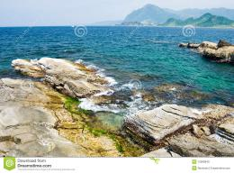 Rocky Seashore And Wavy Ocean Stock PhotoImage: 15969840 766