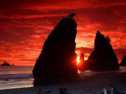 sea stacks knife a blood red sky standard wallpapers jpg 1420