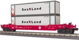 MTH Rail King O 30 76597 Husky Stack Car with Sea Land Containers 368