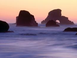 Evening Falls over Sea Stacks, Ecola State ParkGratis achtergronden 1936