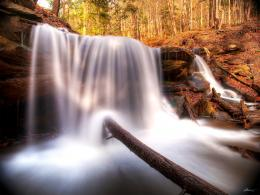 Smooth Waterfall in the Forest wallpaper 181