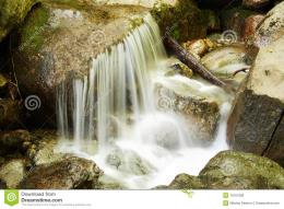 Smooth Water Of A Waterfall Royalty Free Stock PhotosImage 750