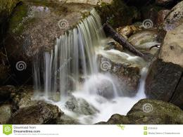 Smooth Water Of A Waterfall Stock PhotographyImage: 21364342 1732