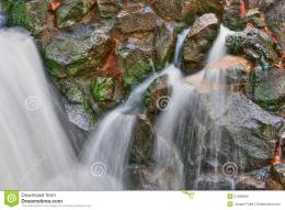 Smooth Waterfall In HDR High Dynamic Range Royalty Free Stock Images 984