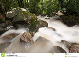 Smooth Waterfall In Forest Royalty Free Stock PhotoImage: 34215135 320