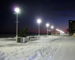 Winter Snow Boardwalk 8X10 Photo Ocean City by AFlashOfNature 1734