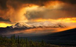 fire sky over the snow mountains | wallpapers55 comBest Wallpapers 1135