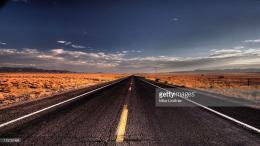 Straight Road in the Desert, Route 66, CaliforniaShow more 316