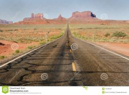 Straight Desert Highway Road Stock ImageImage: 14099481 977