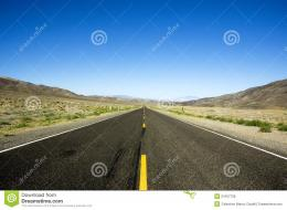 straight road in the desert of USA 260