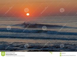 Dawn Sunrise Sea Ocean Waves Stock ImagesImage: 26606944 205