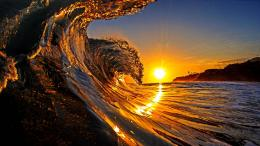 185975 Strong Waves At The Beach In Sunrise Wallpaper Hd background 803