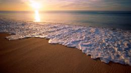 Magnificent beach at sunrise wallpaper 1357