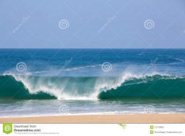 Waves Over Beach On Lumahai Stock PhotographyImage: 13119842 1195