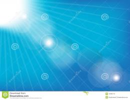 Abstract BackgroundSun Rays on Blue Summer SkyVector 447