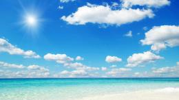 Summer blue sky and calm sea Wallpapers, Beach Pictures and images 185