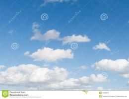 Summertime Blue Sky, With Clouds Stock PhotoImage: 45389670 1750