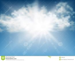 Blue Summer Sky Background Stock VectorImage: 42866425 1693